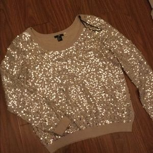 Sparkly sequins crewneck H&M sweater